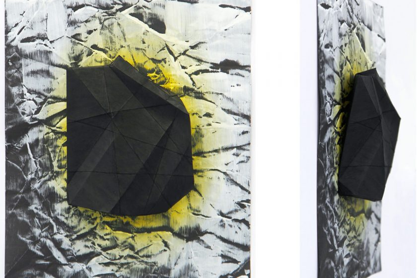 black-rock-42-x-29-x-45-cm-gesso-pastel-and-ink-on-black-paper-2016